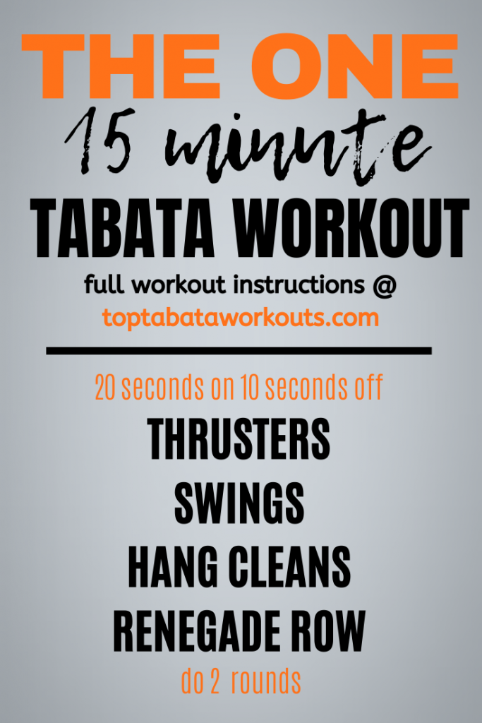 Tome to get lit up with this 15 minute fat burning Tabata workout. For this Tabata workout you will need some weights, get ready to get sweaty.