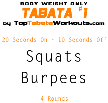 tabata bodyweight exercises