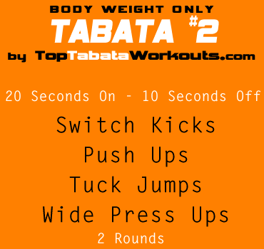 tabata exercise ideas