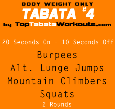 home tabata workout routine