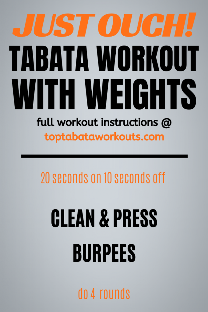 Work your entire body with this full body Tabata workout with weights/ Do it as home of the gym and burn fat for fun.