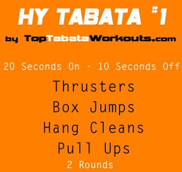 Cross Fit Style Tabata Workout