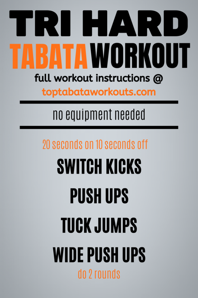 Get those arms working and that fat burning with this no equipment Tabata workout that is sure to get your sweating.