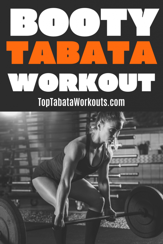 This Tabata workout uses weigts to work your legs and glutes in our deadlift only Tabata.