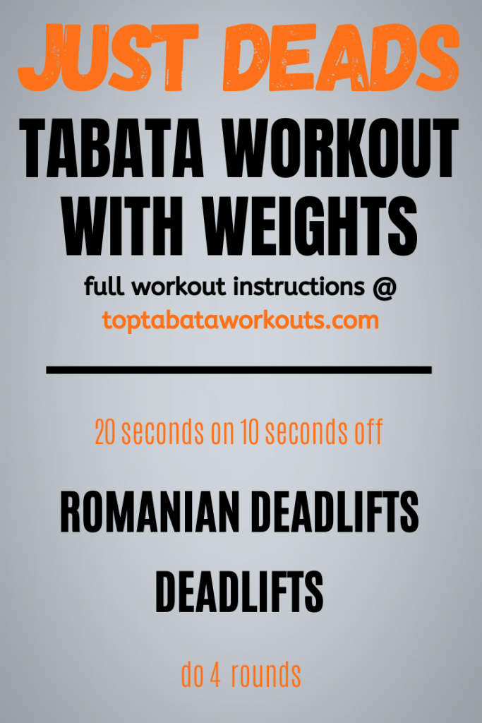 Would a deadlift Tabata workout be effective? You bet. Give it a try and get ready for the soreness.