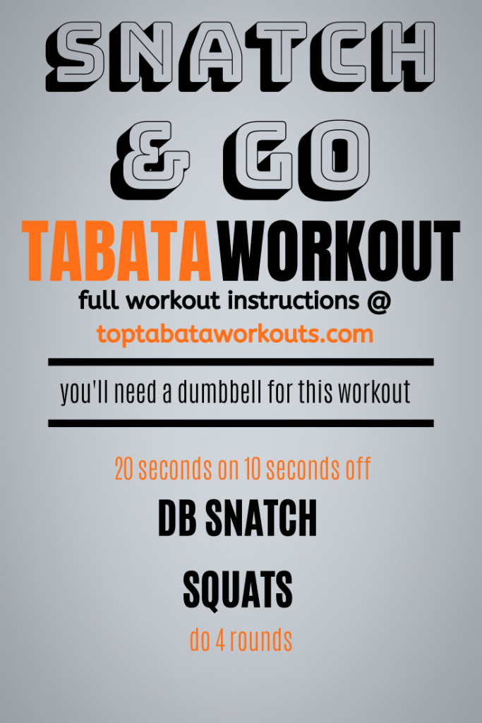 get hot and sweaty with this Tabata HIT workout, all you need is a dumbbell and you're good to go. Do this tabata with our other Tabata HIIT workouts.