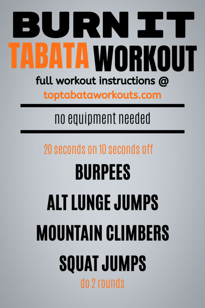 Burn calories and get fit quick with this advanced Tabata HIIT workout you can do at home with no equipment needed. Just you and your body weight. .