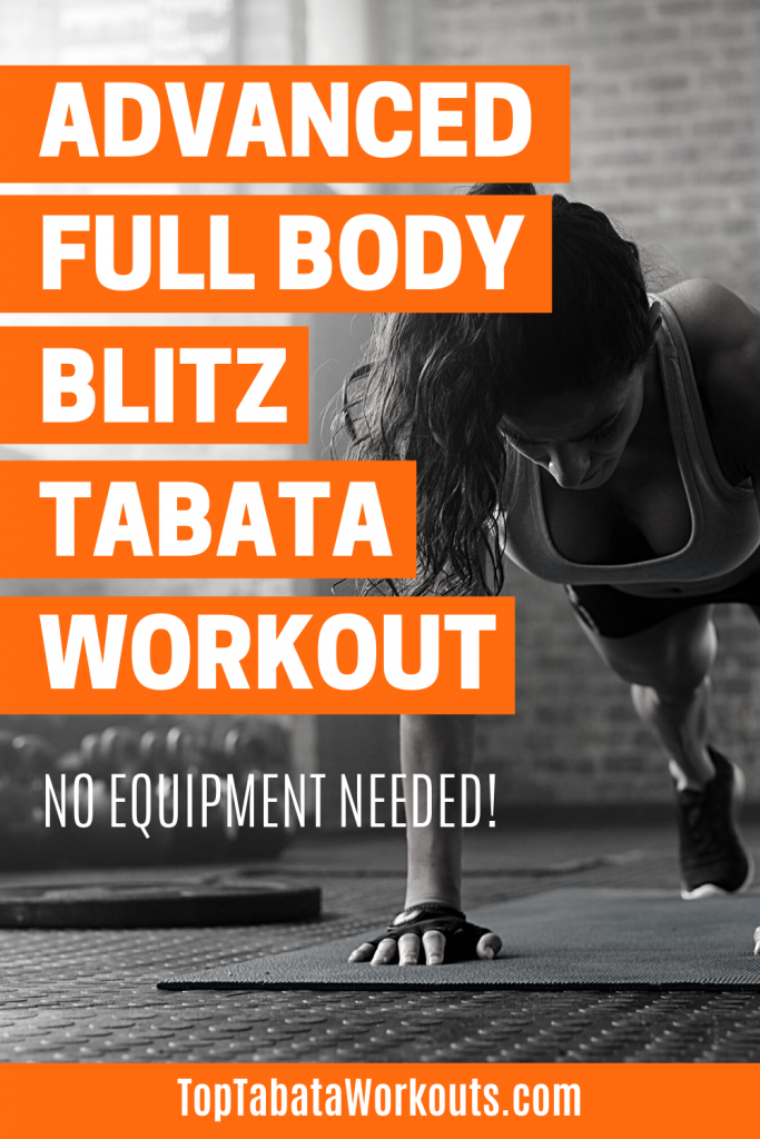 This Tabata routine is tough! If you are up for a challeneg and a quick workout then try this advanced full body Tabata workout now. #Tabata