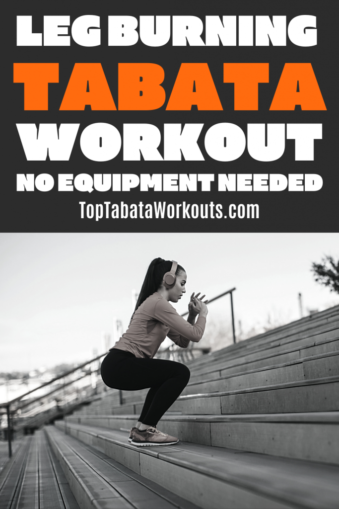 Get ready for a quad burn with this no equipment Tabata routine, do it in 4 minutes of modifiy it for a longer workout.