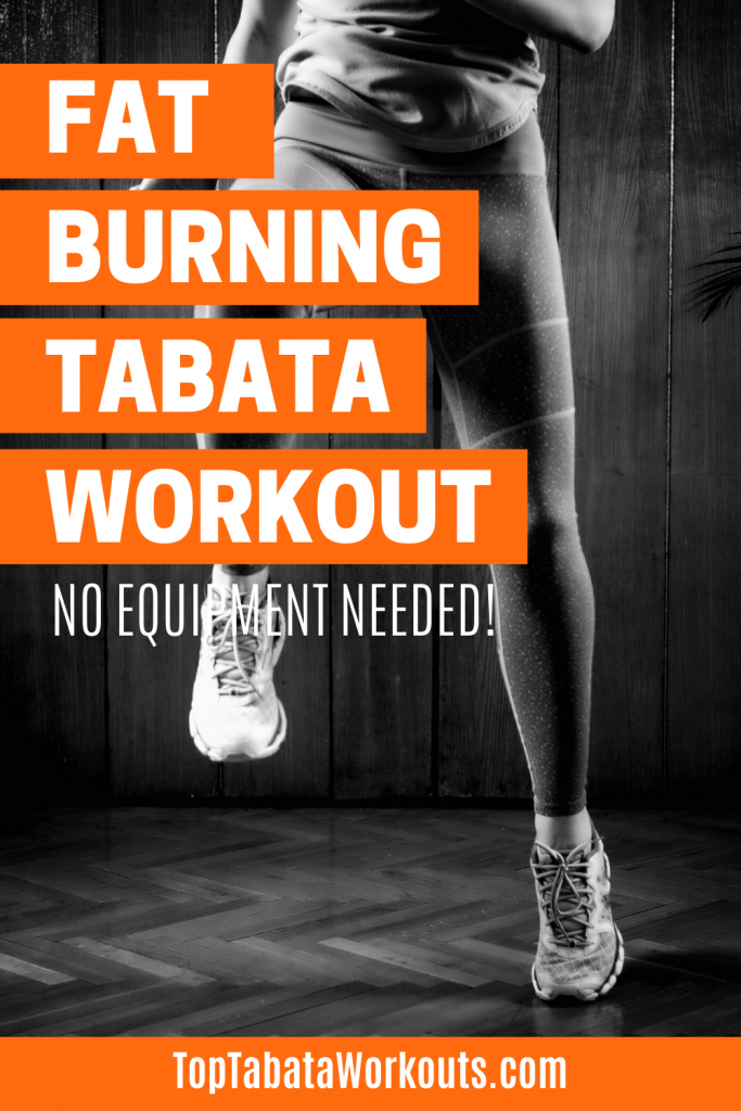 Burn fat and get into top shape with this no equipment Tabata workout that will work your full body. #tabataworkouts