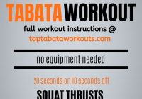 No equipment, no problem. This tabata workout uses body weight exercises only for a quick and effective workout that can be done anywhere. #tabata #tabataworkouts